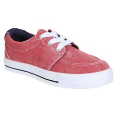 Boys' Capelli Kids Chambray Tennis Sneakers - Rust 11, Red