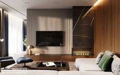 BLUELIGHTS on Behance Living Room Partition Design, Living Room Sofa Design, Home Living Room, Living Room Designs, Living Room Decor, Luxury Homes Interior, Interior Design, Modern Tv Unit Designs, Modern Classic Interior