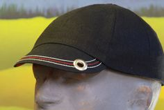Black and Red with White Highlights Linen Cycling Cap by ArmyAnt, $33.99