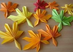 Exquisite renderings origami corrugated Maple Leaf production tutorial complete