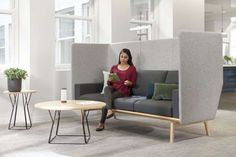 Returning to the office and need a refresh to boost employee morale? The details make the difference. This modern occasional table series was designed with minimalist sensibility to capture an intriguing form without losing utility for people.