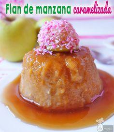 Flan de manzana caramelizada | Receta fácil sin leche