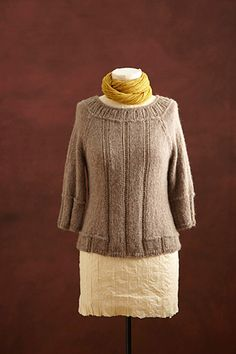 Free Knitting Pattern L0173AD Knit Fitted Pullover : Lion Brand Yarn Company