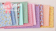 Aunt Grace Miniatures!  sew and quilt -england