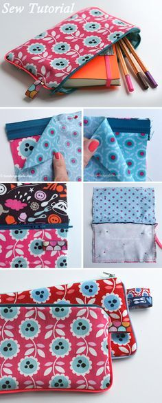 Pencil Case or Cosmetic Bag Tutorial http://www.free-tutorial.net/2018/05/pencil-case-or-cosmetic-bag-tutorial.html