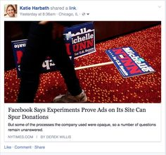 Facebook ads experiment shows ads can spur donations