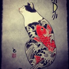 japanese cat tattoo - Google Search