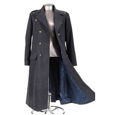The Doctor Who Captain Jack Harkness Coat is a a replica of the coat worn by Captain Jack Harkness in Doctor Who and Torchwood. Based on the original coats of the British Royal Air Force (RAF), the coat has replica RAF brass buttons, belt buckle and back kick-pleat along with a double-breasted closure and inside and outside pockets. Like the original coat in Doctor Who, this replica is made from non-wool material (80% polyester and 20% rayon).