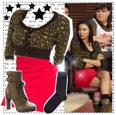 """""""Dress Like Glee: Santana #2"""" by broadway-fairy ❤ liked on Polyvore"""
