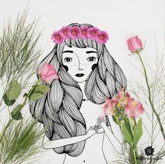 Ilustração, fotografia e flores. Esse é o tema do projeto A Florigrafia, que compartilha imagens ilustradas que interagem com fotos de flores no Instagram.