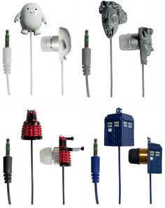 Doctor Who Weeping Angel, Tardis, Dalek & Adipose Earbuds