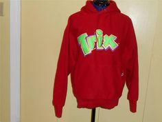 Trix Cereal Sweetshirt Red Hoodie Sz M Unisex  Hidden Rabbit in Pouch Trix logo #Signature #Sweatshirt