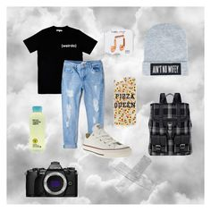 """""""Untitled #28"""" by andreaa-rodriques ❤ liked on Polyvore featuring Illustrated People, MANGO, Converse, Dimepiece, Proenza Schouler, Topshop, Happy Plugs and Olympus"""