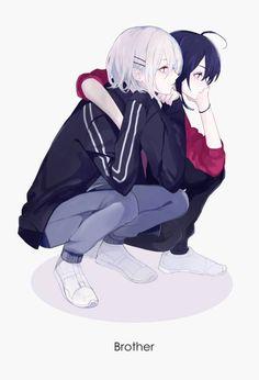 Oh my gawsh lueg mol Liah und Nihan! Anime Girlxgirl, Kawaii Anime, Fanarts Anime, Anime Guys, Cute Anime Boy, Cute Anime Couples, Anime Art Girl, Manga Art, Anime Sisters