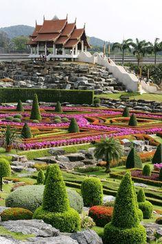 Beautiful Nongnooch Botanical Garden, Pattaya - Thailand