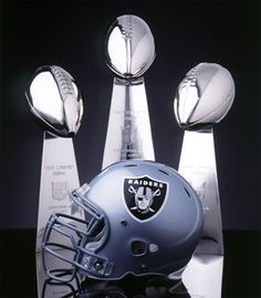"""OAKLAND RAIDERS - """"The Team of the Decades"""":  The Raiders  have a .500 or better record against 27 of 31 teams in the National Football League from 1960 to the present.  They are three-time World Champions of Professional Football, and posted the best winning percentage in ALL of pro sports from 1963-85."""