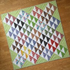 One of the things I enjoy doing in my spare time is scouring second-hand shops for hidden treasures. Along with the furniture gems I've . Half Square Triangle Quilts, Quilt Top, Quilting Projects, Baby Quilts, Handicraft, Sewing Crafts, Blanket, Pattern, Vintage