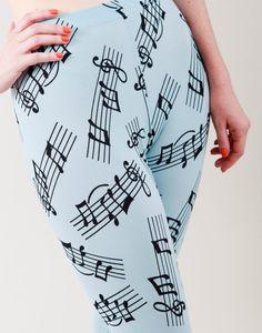 Music Note Leggings
