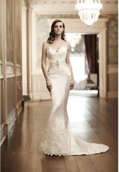 SATIN STRAPLESS SWEETHEART MERMAID SEXY WEDDING DRESS $348
