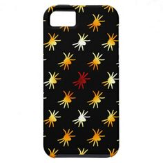 Halloween Colors Spiders Pattern iPhone 5 Cases