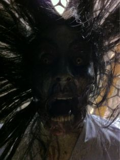 Don't. Look. Up. imagine waking up and seeing this staring at you, freaking scary. by spookymrsboo.com