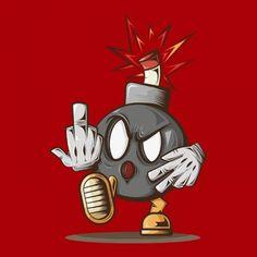 S_design Super Mario Bomb Nintendo Graffiti Drawing, Pencil Art Drawings, Street Art Graffiti, Art Sketches, Cartoon Tattoos, Cartoon Drawings, Cartoon Art, Graffiti Cartoons, Graffiti Characters