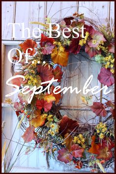GREAT IDEAS FOR SEPTEMBER! Lots of fall inspiration.