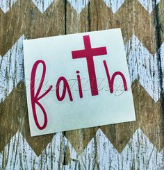 Faith Decal  Cross Decal  Vinyl Decal  Yeti Decal by WestTXDesigns