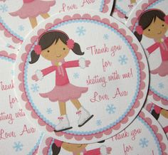 Ice Skating Party Favor Tags Choose Boy or Girl by ciaobambino, $6.00