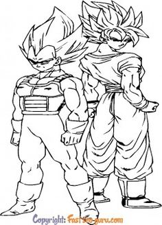 Free Kids Coloring Pages, Coloring Pages To Print, Coloring Pages For Kids, Coloring Books, Goku And Vegeta, Son Goku, Colorful Pictures, Dragon Ball Z, Printables
