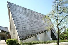 Lietzow Church (1960-61) in Berlin, Germany, by Ludolf von Walthausen