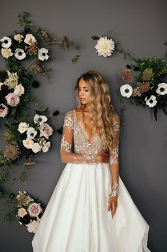Top Designer Wedding Dresses 2018 #weddings #haylepaige  This backdrop is gorgeous too!