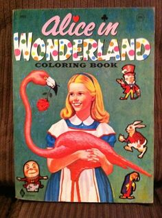 Vintage Alice in Wonderland Coloring Book 1964