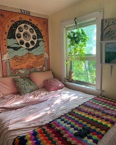 Blue Bedroom Decor, Bohemian Bedroom Decor, Design Bedroom, Diy Bedroom, Boho Decor, Bohemian Apartment Decor, Bedroom Ideas, Hippie Bedrooms, Master Bedroom