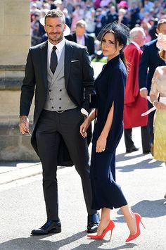 Виктория и Девид Бекхем на свадьбе принца Гарри