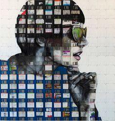 Floppy Disk Portrait by Nick Gentry