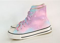 Harajuku gradient galaxy canvas shoes sold by Harajuku fashion. Shop more products from Harajuku fashion on Storenvy, the home of independent small businesses all over the world. Pastel Goth Outfits, Pastel Goth Fashion, Grunge Outfits, Kawaii Fashion, Cute Fashion, Womens Fashion, Fashion Trends, Pastel Goth Shoes, Pastel Goth Style