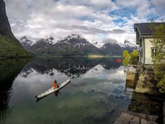 A different #kayak perspective from #Hjelle in #oppstryn  #Norway  @orukayak Coast  #gopro 4 black on a tripod.  Used @removu R1 to set up the shot  #stryn #nordfjord  For information about fjords in western Norway visit @norwegianfjords  #visitnorway #ilovenorway  #Orukayak  #seakayaking #fjordnorway #kajakk #sogn #norge #gmn #godmorgennorge by tfbergen