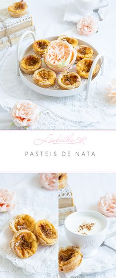 Pasteis de Nata oder göttliche Puddingtörtchen. So kann man diese unfassbare Leckerei aus Portugal ruhig nennen. Was macht es Spaß, wenn alles flott auf dem Tisch steht und nur darauf wartet, verputzt zu werden. So liebe ich das. Flott, Brunch, Cereal, Portugal, Desserts, Breakfast, Foodblogger, Food Blogs, Summer Vibes