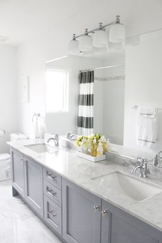 FRANKIE HEARTS FASHION: Inspiration: Grey + White Bathrooms