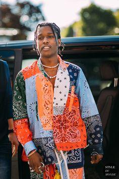 Best street style from Paris Fashion Week Men's Spring/Summer Hip Hop Look, Style Hip Hop, Men's Style, Men Street, Street Chic, Asap Rocky Outfits, Asap Rocky Wallpaper, Asap Rocky Fashion, Lord Pretty Flacko