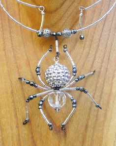 Beaded Spider Necklace by hensandchicks1 on Etsy. , via Etsy.