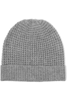 f24b46df986 Madeleine Thompson - Holby Waffle-knit Cashmere Beanie - Gray - One size