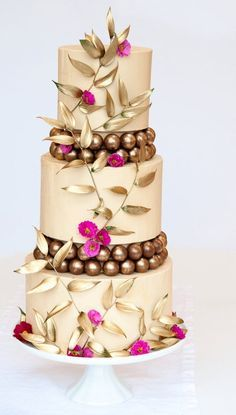 b2619c5a8fd Beautiful Wedding Cakes by The Blushing Cook - Girl Gets Wed. Beautiful! 3  Tier