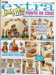 Gallery.ru / Фото #1 - 748 - Yra3raza. Wonderful Beatrix Potter cross stitch ( the robin is my favorite)