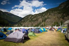 Camping space at the Festival with the mountains in the background. Outdoor Gear, Tent, Camping, Mountains, Space, Campsite, Floor Space, Store, Bergen