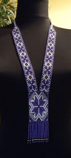 Free Shipping!!! Handmade Beaded Necklace , Gerdan, Vyshyvanka Herdan #Handmade #Ukrainian