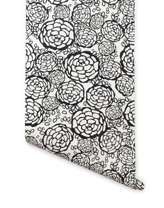 Petal Pusher (Black) by Oh Joy! for #hyggeandwest (while this is going in the hallway, I am posting it here so we can see how it works with the adjacent bathroom)