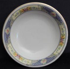 Bohemia Ceramic China Fruit / Dessert Bowls #2164, White, Floral, Discontinued