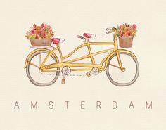 Children's Wall Art Print - Amsterdam - 8x10 - Kids Nursery Room Decor. $26.00, via Etsy.